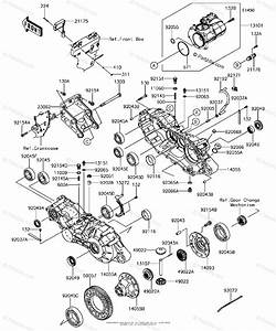Kawasaki Side By Side 2018 Oem Parts Diagram For Gear Box
