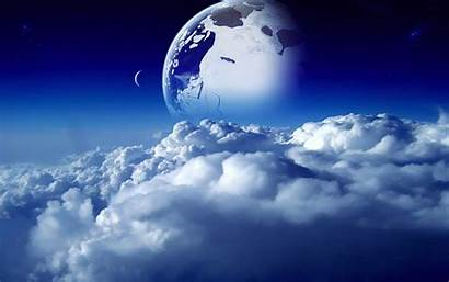 Dream Digital Sci Fi Sky Moon Space