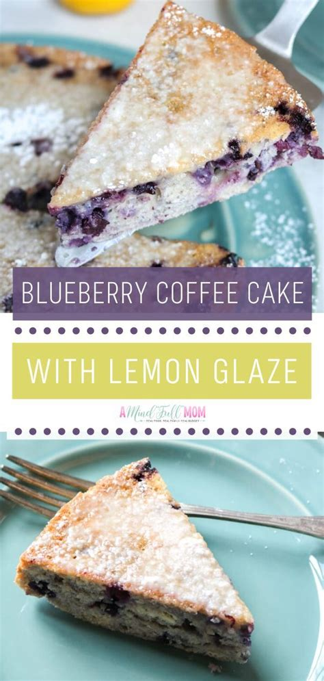 Lightly grease the pan and sprinkle some flour. Blueberry Coffee Cake with Lemon Glaze in 2020 | Coffee cake, Vegan recipes easy, Real food recipes