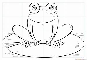How to draw a frog on lily pad | Step by step Drawing ...