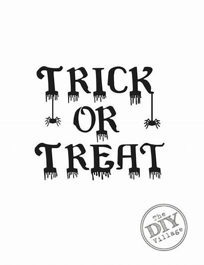 Halloween Printables Trick Treat Printable Diy Village