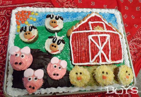 Baby's First Birthday Farm Cake  The Joys Of Boys