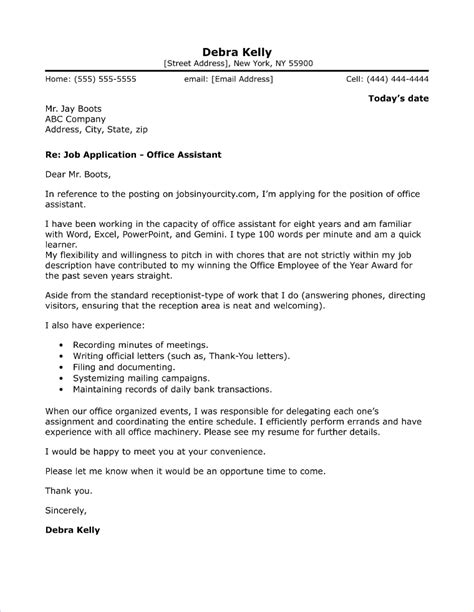 Office Assistant Cover Letter by Office Administrator Cover Letter Sle