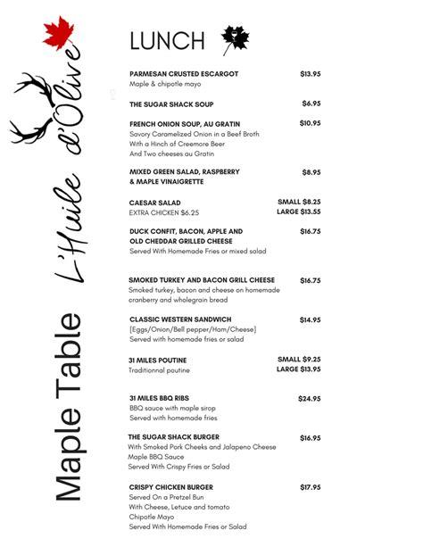 Menus | Table d'hôte | Restaurant L'Huile d'Olive