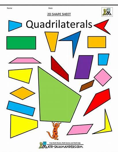 Shapes Clipart Quadrilaterals Math Clip 2d Shape