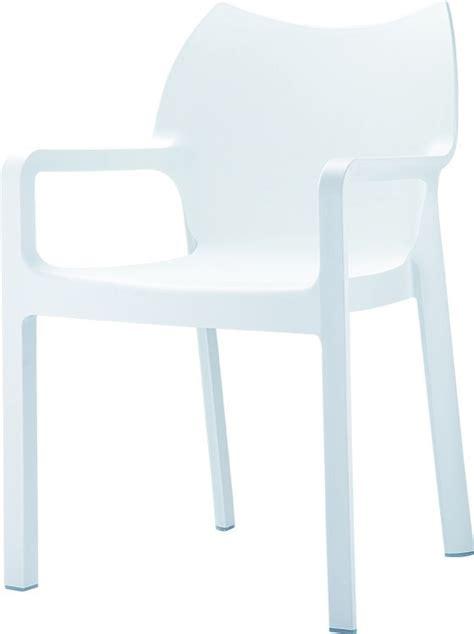 stoel diva wit diva stapelbare armstoel wit