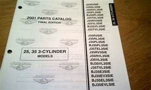 Johnson 25 35 Hp 3 Cyl Outboard Motor Catalog Parts List