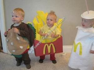 Coolest Homemade Happy Meal Triplets Halloween Costume ...