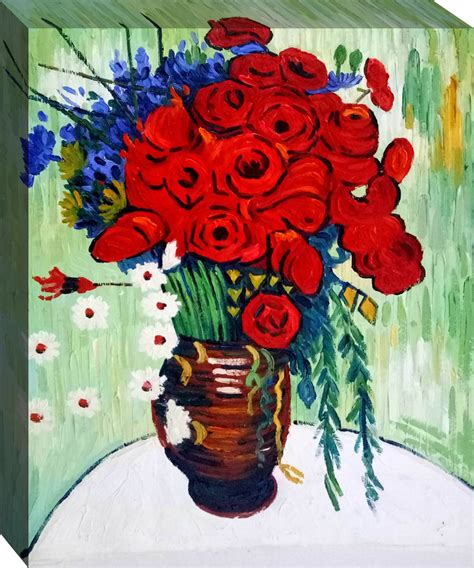 Vase With Poppies Vincent Gogh by Vase With Daisies And Poppies Vincent Gogh