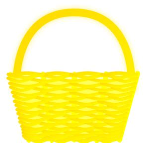 yellow basket clip art  clkercom vector clip art