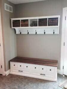 shoe bench  coat rack unit hallway mudroom entryway furniture bench set ebay