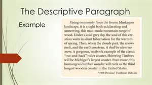 desciptive paragraph examples scenery