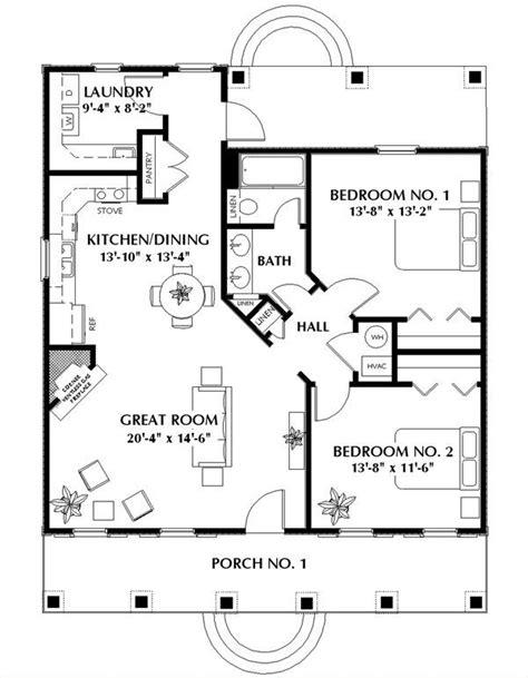 nice small  bedroom cabin plan add  small garage