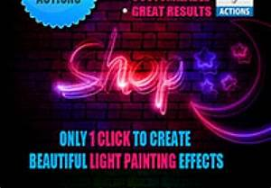 Light Painting Effect shop Actions