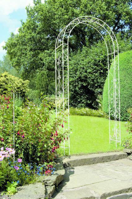 Value Garden Arch by Gardman Loire Decorative Iron Metal Garden Arch Signature