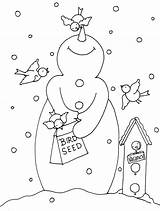 Snowman Digi Dearie Stamps Feeder Dolls Patterns Embroidery Bird Hand Applique Coloring Christmas Birdie Digital Pages Stamp Pattern Designs Noel sketch template