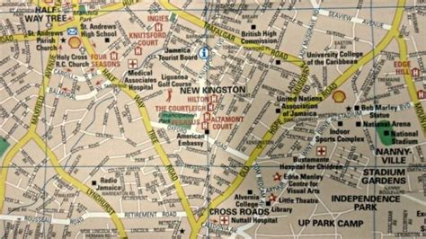 jamaica road map street maps  outdoor travelling