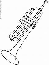 Coloring Instruments Musical Instrument Clarinet Trumpet sketch template