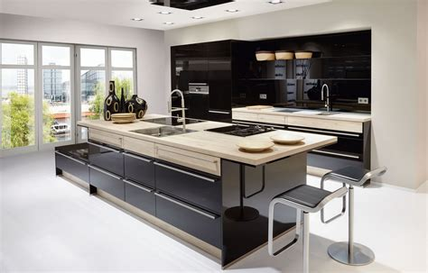 ultra modern kitchens black gloss planung edler design k 252 chen k 252 chen brauckhoff Ultra Modern Kitchens Black Gloss