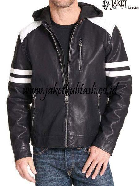 jaket kulit kupluk pria asli