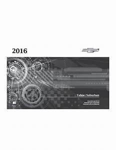 2016 Chevrolet Tahoe Suburban Owners Manual