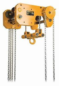 Harrington Chain Hoist  2 000 Lb Load Capacity  20 Ft