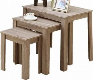light oak rustic wood end tables set of 3 farmhouse With light wood coffee table sets