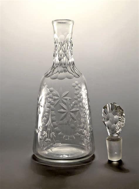 george iii cut glass pint decanter england