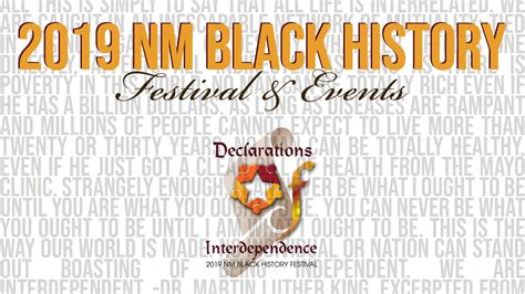 nm black history month festival declaration interdependence