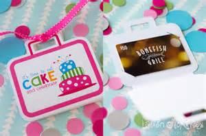 Printable Birthday Gift Card Holders