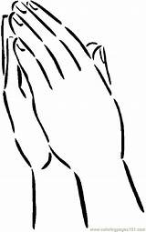 Hands Praying Coloring Pages Printable Clipart Hand Template Children Finger Clipground Washing 850px 41kb Coloringpages101 Helping sketch template