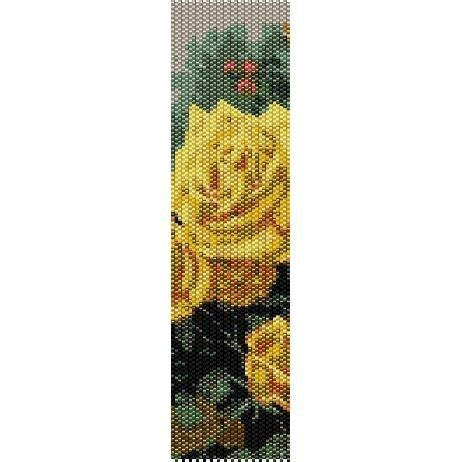 perfect yellow rose  thomas kinkade loom beading