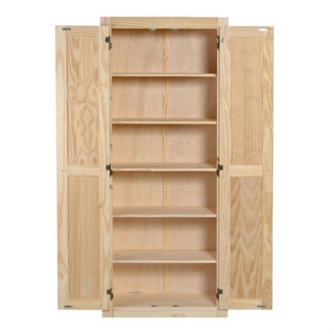 kitchen pantry storage cabinet unfinished pine wood