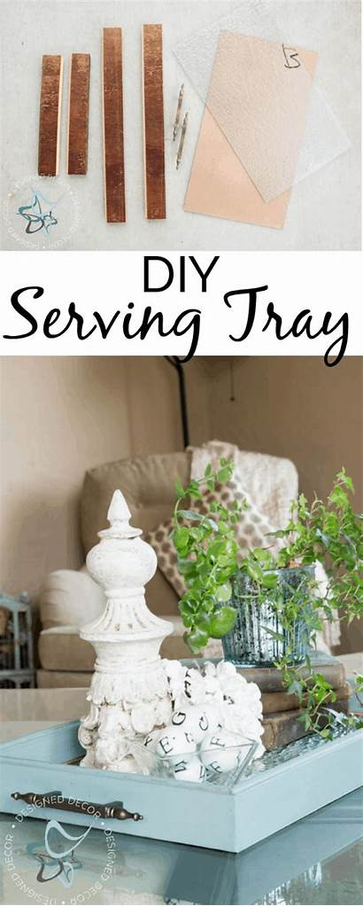 Tray Serving Diy Decor Trays Repurposed Repurpose