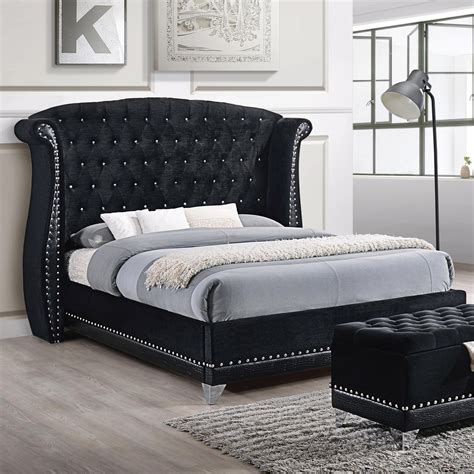 27010 coaster furniture beds coaster barzini glamorous upholstered bed value