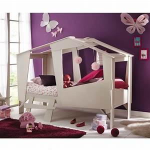 Lit Fille Cabane : cadre de lit cabane enfant en bois avec sommier drawer ~ Teatrodelosmanantiales.com Idées de Décoration