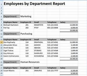 Creating excel templates for Sample test data template