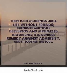 There Is No Wilderness Like A Life Without Friends ...