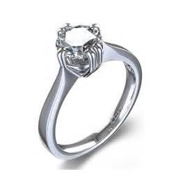 unique engagement ring unique prong engagement ring in palladium