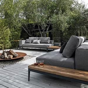 Loungemöbel Holz Outdoor : feuerstelle garten feuerschale loungem bel sofa holz stein feuerstellen im garten ~ Indierocktalk.com Haus und Dekorationen