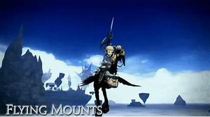 Fantasy Final Ffxiv Mounts Flying Heavensward Dark