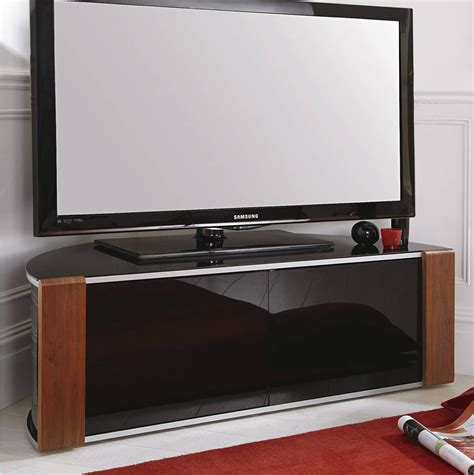 Tv Cabinet by Sirius 1200 Black And Walnut Corner Tv Cabinet