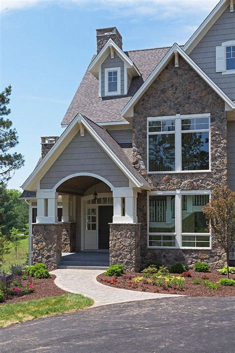 Two Luxury Single Family Houses With And Grey Decor by Fieldstone Exterior Design Ideas And Photos Fieldstone