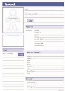 facebook profile free pdf template education resources With fill in facebook template