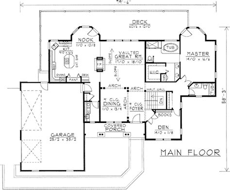 Grand Living on a Sloping Lot 14027DT Architectural