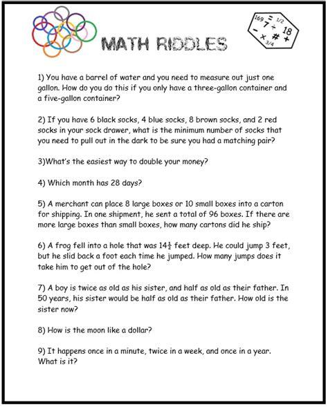 8th grade math riddles worksheets decimals worksheets