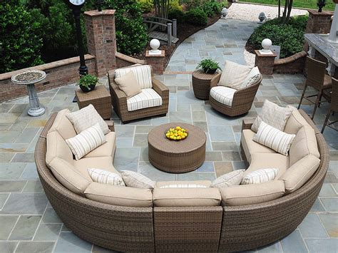 of wicker outdoor furniture corner