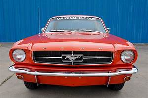 """1965 Ford Mustang """"K Code HiPo"""" Coupe – Poppy Red – A&E Classic Cars"""