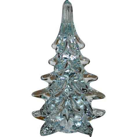lead glass christmas tree sold on ruby lane