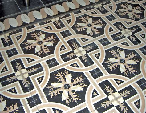 Hand Made Trapani Midnight, Decorative Cement Tile By